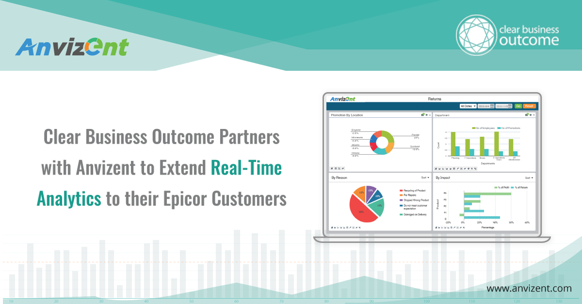 Clear Business Outcome Partners with Anvizent to Extend Real time Analytics to their Epicor Customers