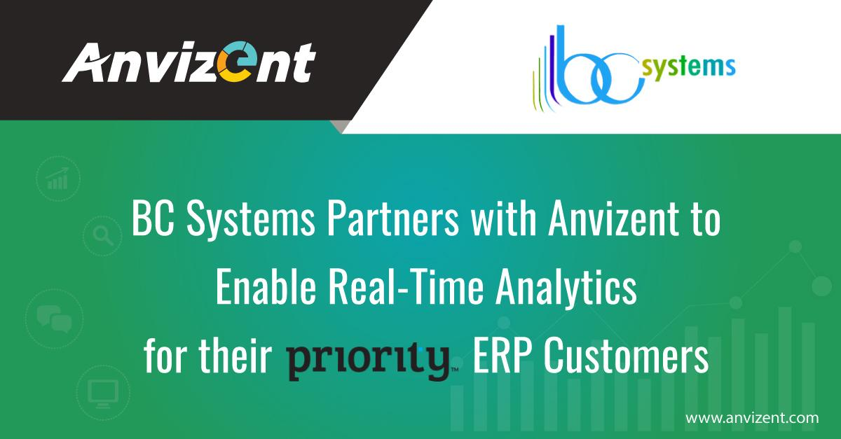 BC Systems Partners with Anvizent to Enable Real-Time Analytics for their Priority ERP Customers